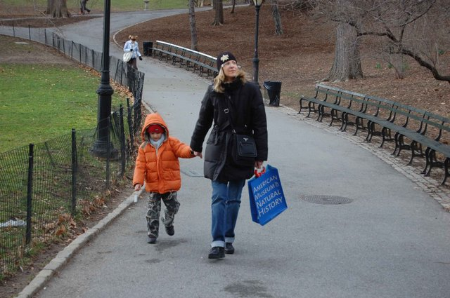Walking to central park