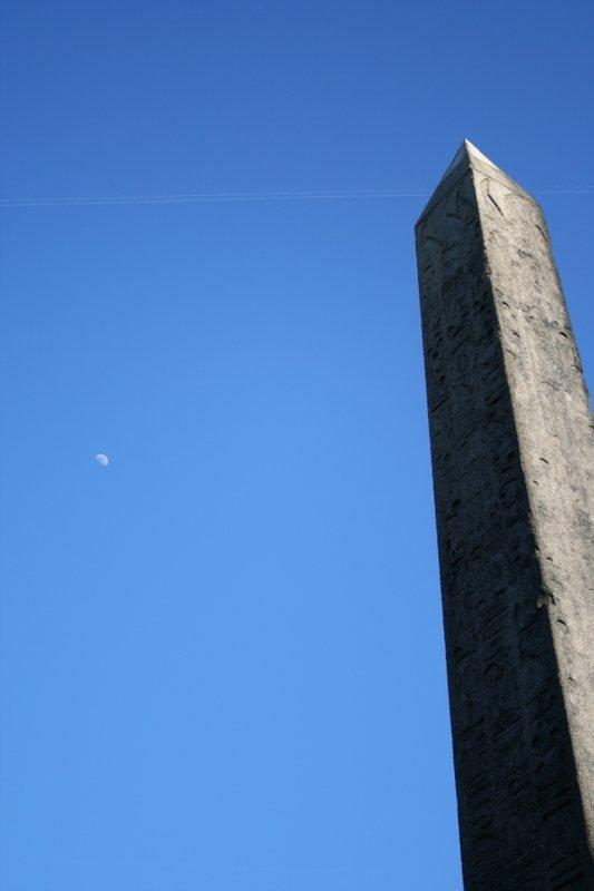 Cleopatra's Needle and Moon