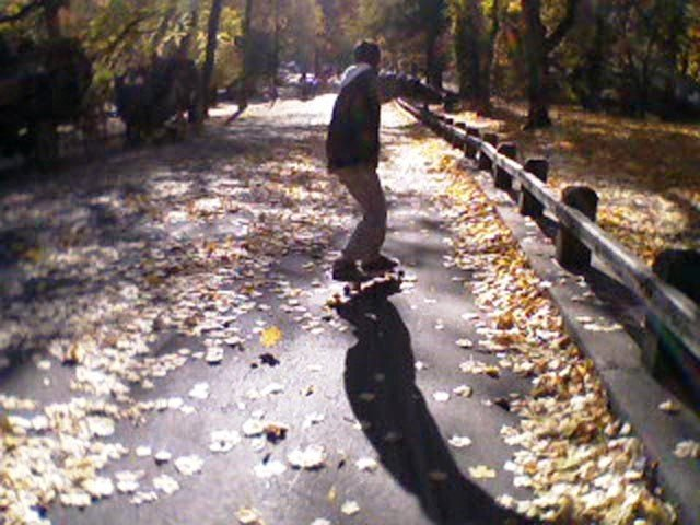 Skater at Central Park on Fall !