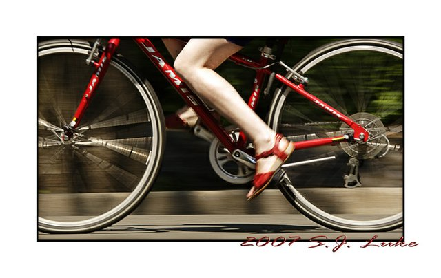 Red Shoes, Red Bike