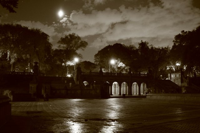 Bethesda Terrace on a summer night