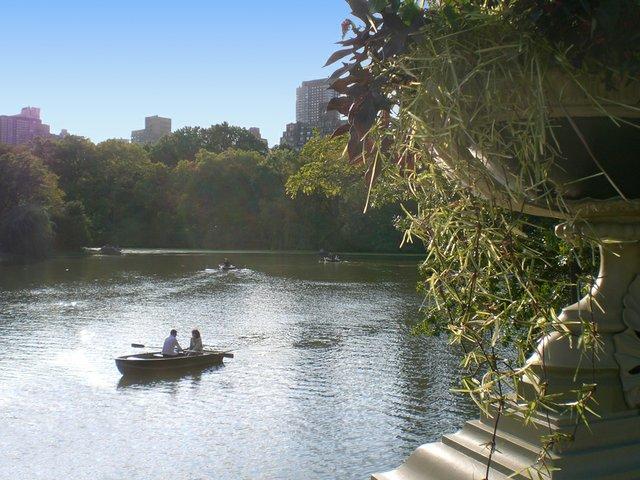 Passing Canoe from Bow Bridge
