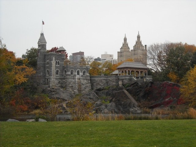 Belvedere Castle in the fall