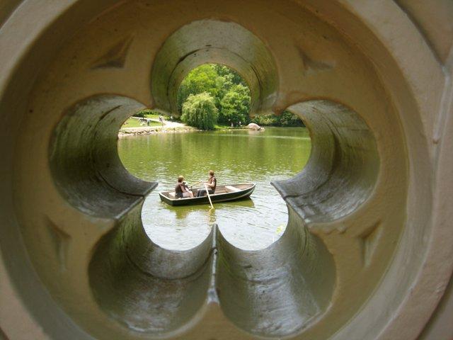 Row Boat through the Bow Bridge