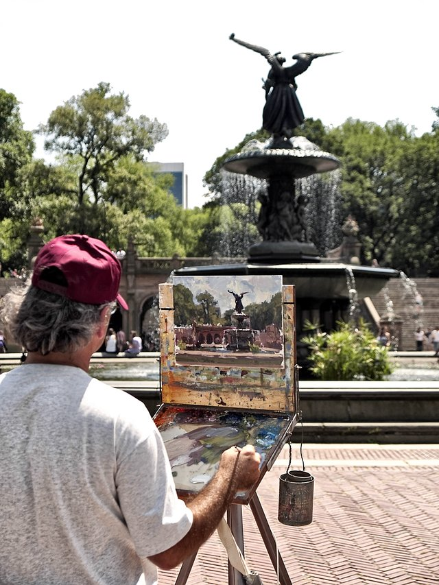 Painting the Bethesda Fountain