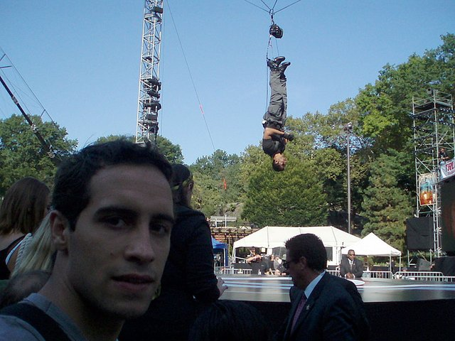 David Blaine in Central Park