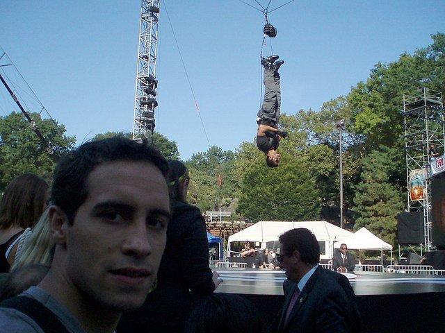 David Blaine in Central Park