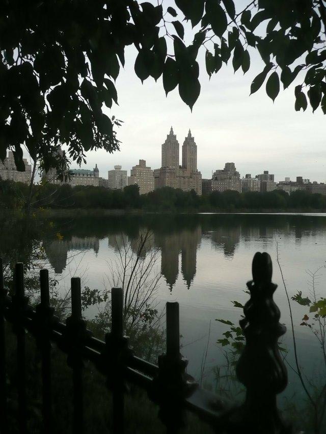 The Reservoir in Central Park at dusk