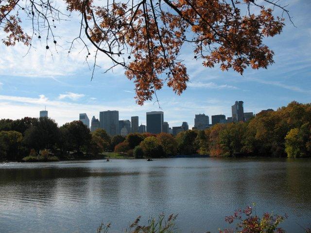 The Lake with Manhattan Skyline