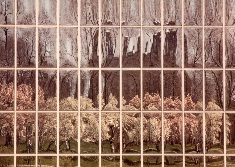 Spring reflection in Metropolitan Museum