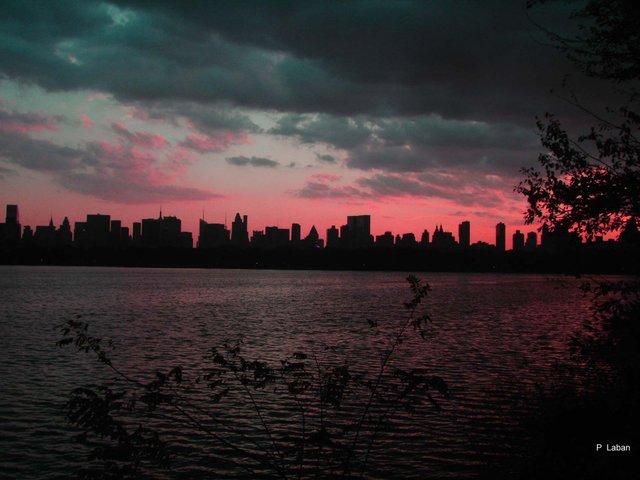 skyline at twilight Central Park