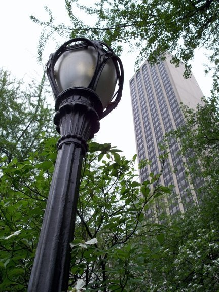 Street Lamp and Building