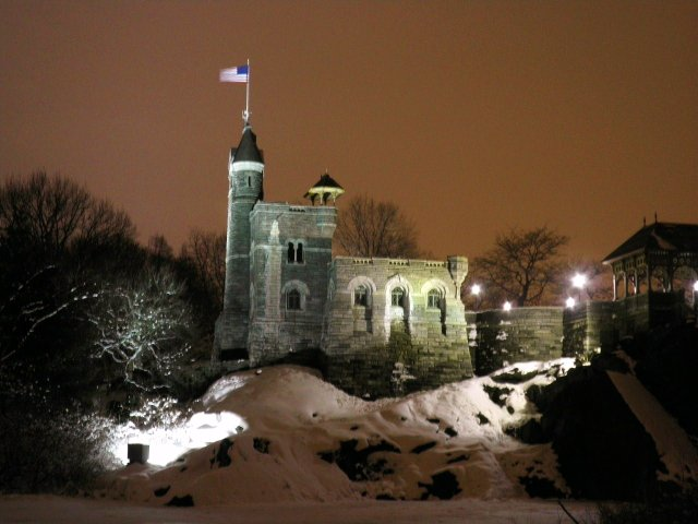 Belvedere Castle on Wintery Night