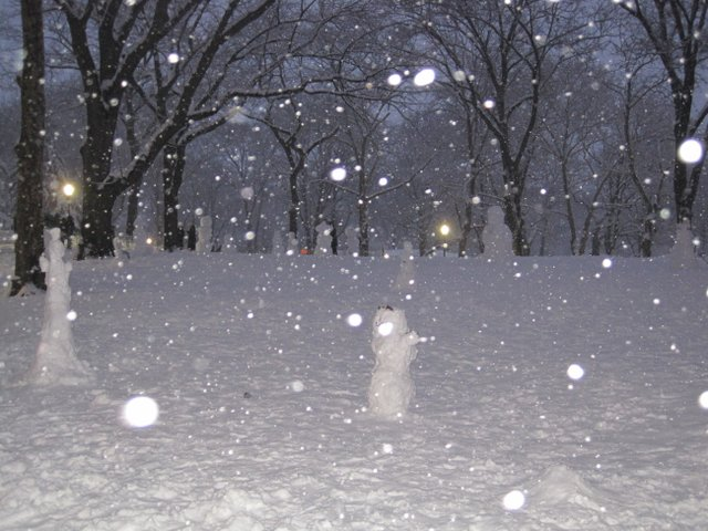 Magical world of snow people