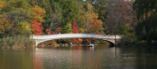 Bow Bridge in the Fall