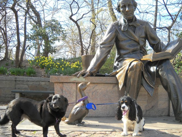 Hans Christian with dogs