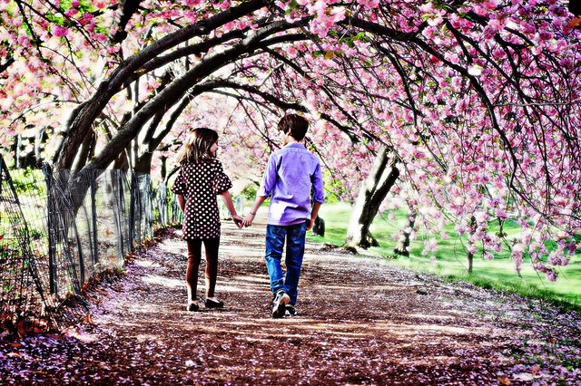 Brother & Sister in Spring