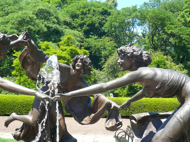 The Conservatory Garden fountain