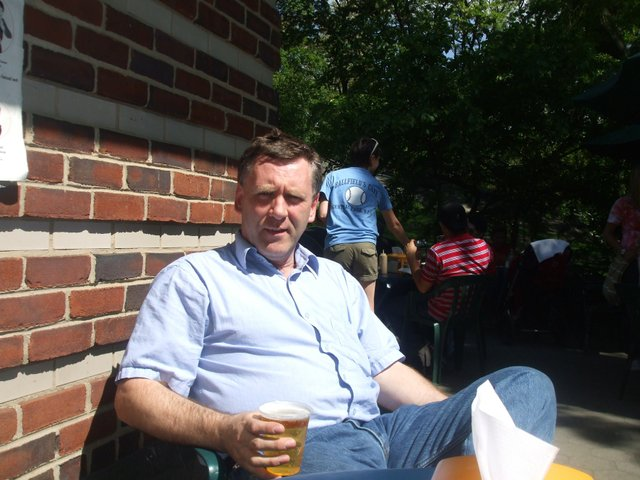 Cool beer in the hot Central Park Sun