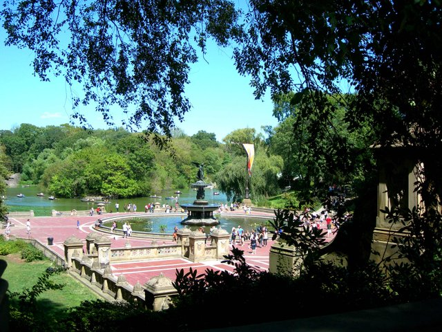 Bethesda Terrace in August