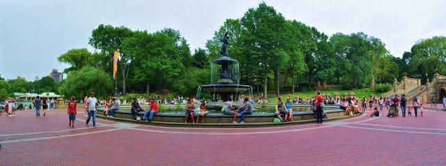 bethesda fountain in august 2010