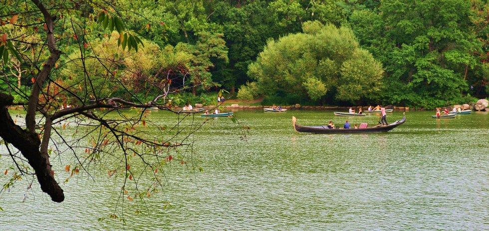 boating at central park