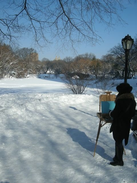 Artist at Gapstow Bridge