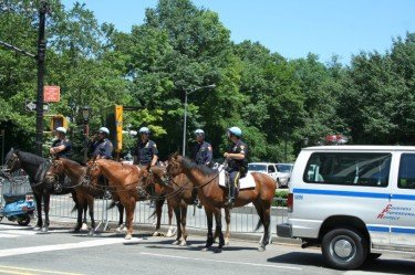 police riding horses