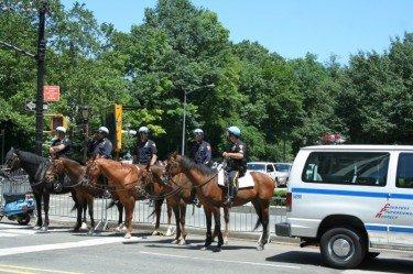 police riding horses