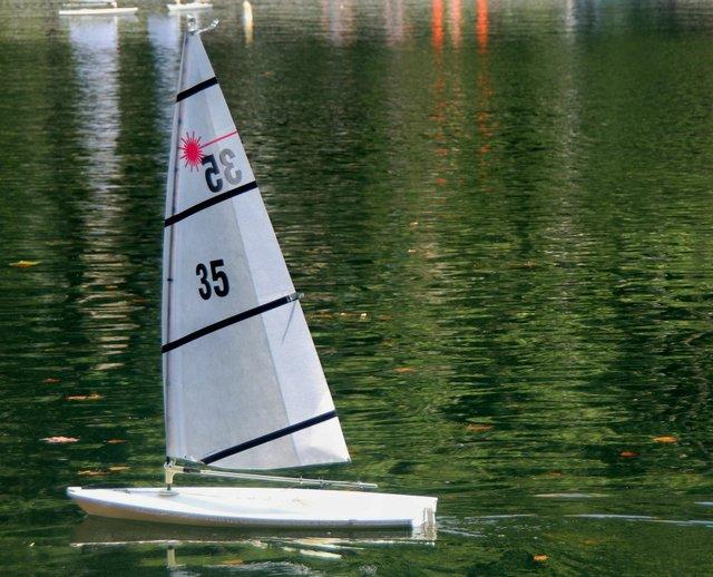 The small sailboats