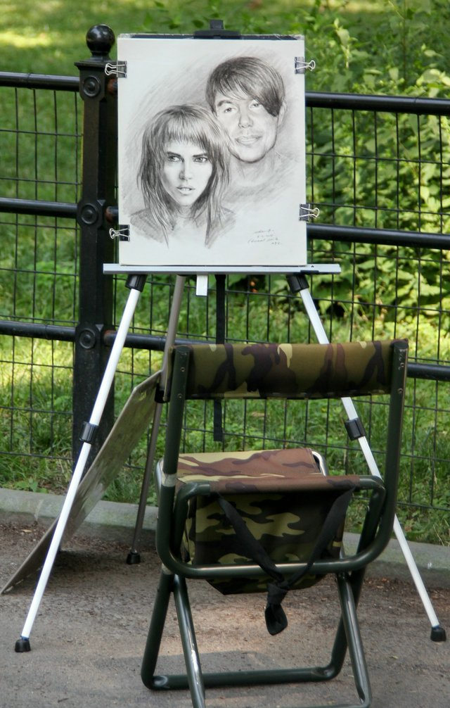 The art in the Central Park