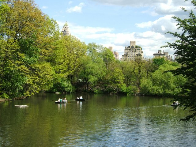 Canoeing in Central Park