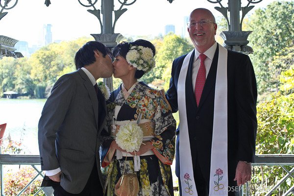 Ryo and Junko Wed at Ladies Pavilion by Rev. Will