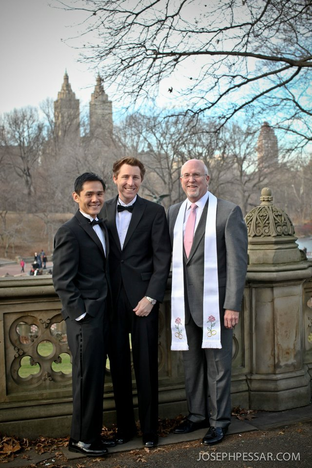 Andy and Steve Wed at Bethesda Terrace by Rev. Will