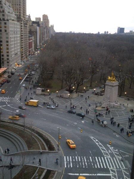 Central Park at Columbus Circle!