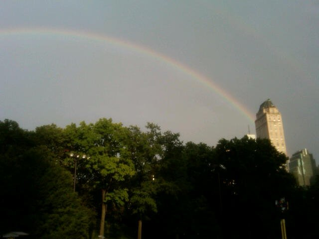 over the rainbow in central park