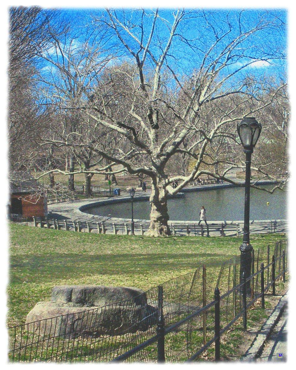 Central Park in April 1