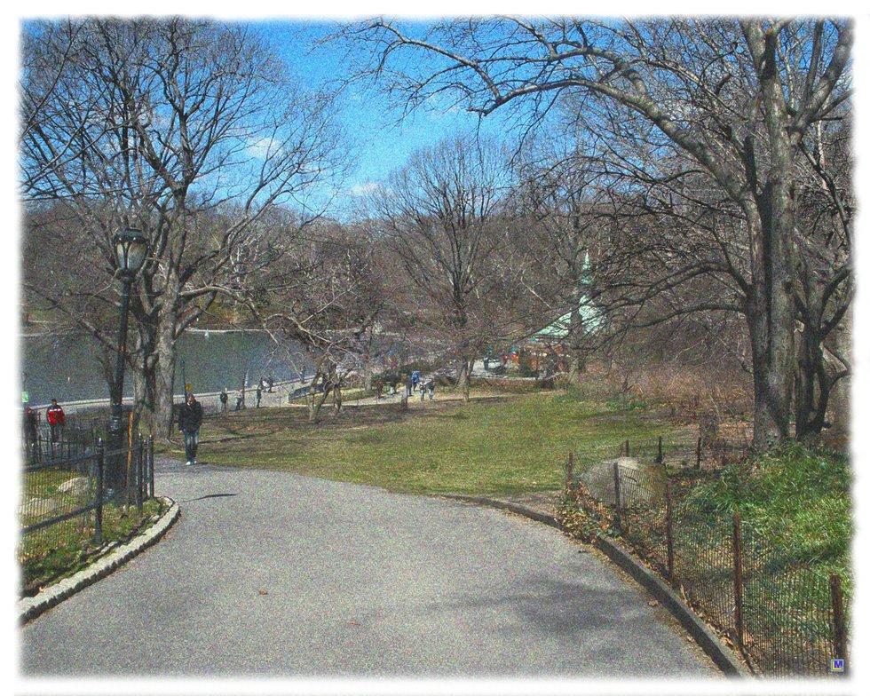 Central Park in April 2