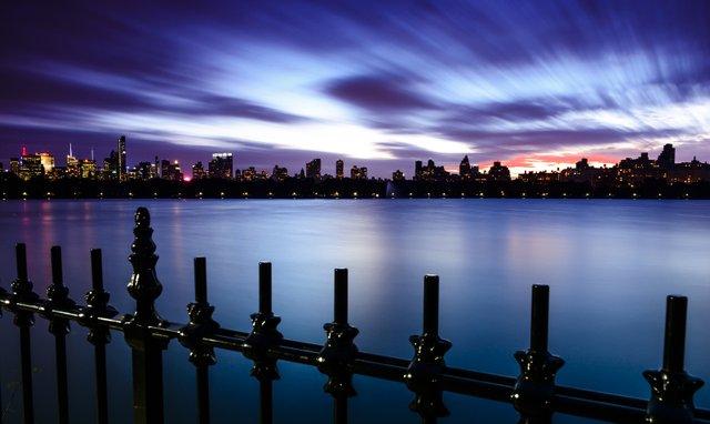 LAKE NIGHT MANHATTAN