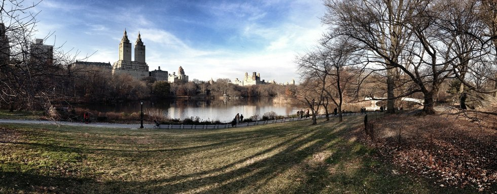Panoramic View of Central Park Lake