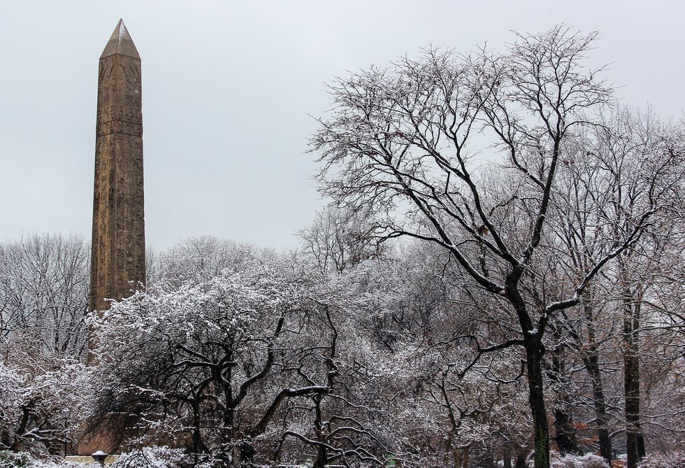 Cleopatra's Needle in Winter