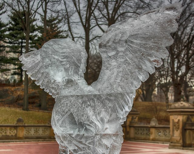 Ice Sculpture at Bethesda Fountain