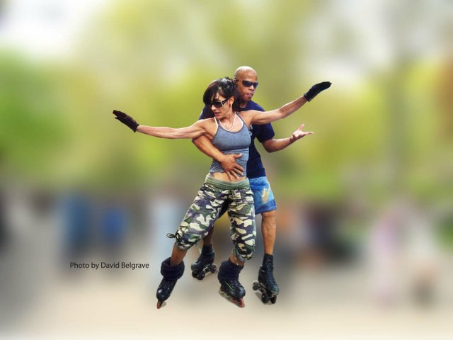 Roller Dancing in Central Park