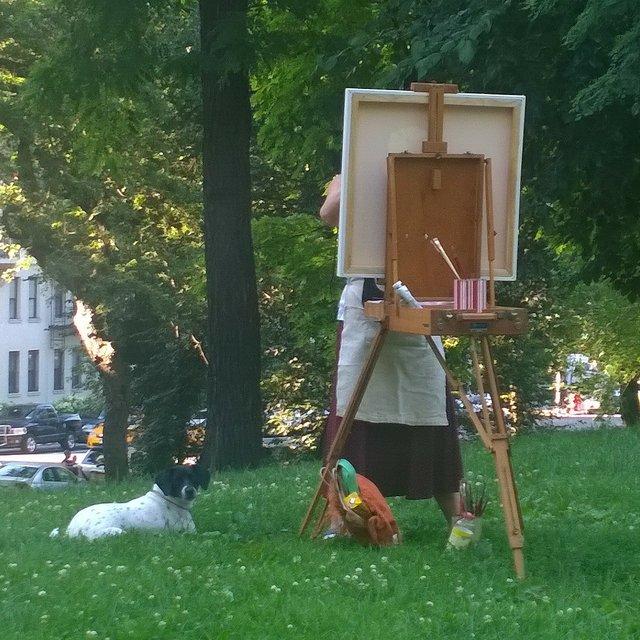 Painter & Dog  106th & Central Park West