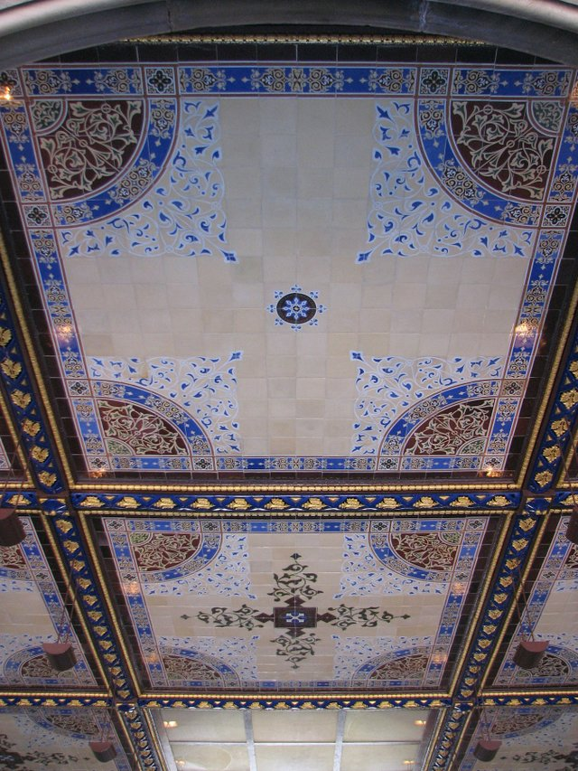 Encaustic tiles ceiling in Bethesda Terrace