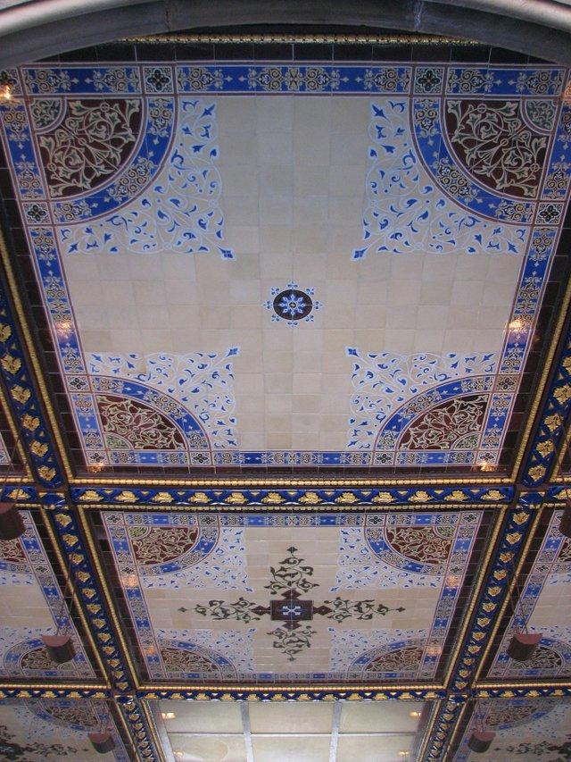 Encaustic tiles ceiling in Bethesda Terrace
