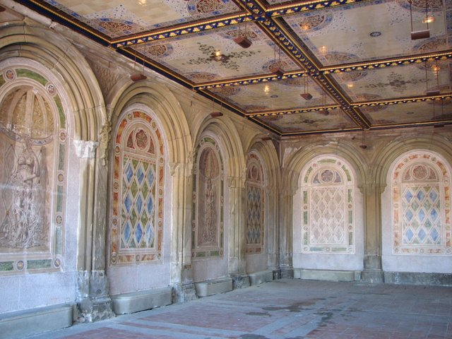 Left side of space beneath Bethesda Terrace