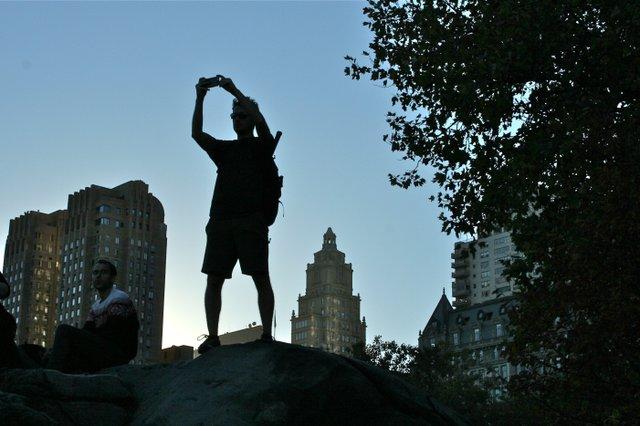 Selfie on the rocks