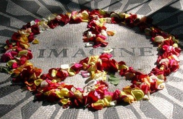 Remember John Lennon at Strawberry Fields
