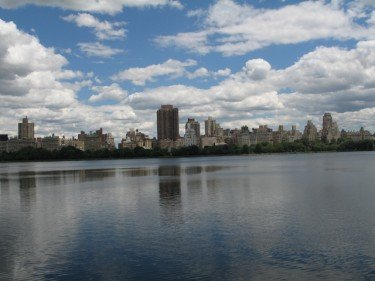 Manhattan skyline by the Reservior